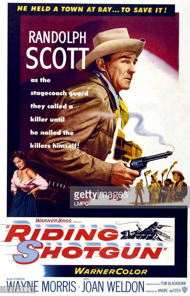 Riding Shotgun poster Joan Weldon Randolph Scott 1954