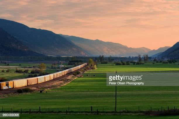 riding the rails - kamloops stock pictures, royalty-free photos & images