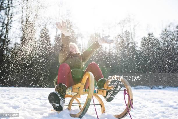 Riding the sleigh