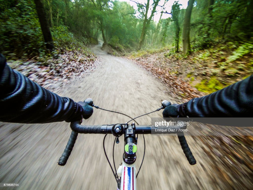 Riding the trails in Collserola : Stock Photo