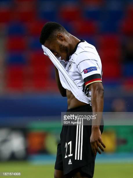 Ridle Baku of Germany U21 during the 2021 UEFA European Under-21 Championship Semi-Finals match between Netherlands and Germany at MOL Arena Sosto on...