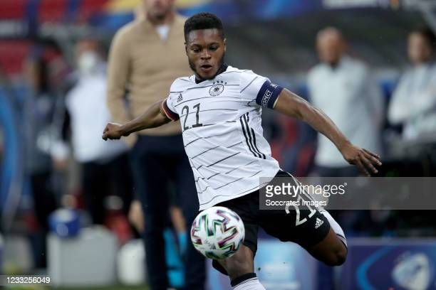 Ridle Baku of Germany U21 during the EURO U21 match between Holland v Germany at the Mol Arena Sosto on June 3, 2021 in Szekesfehervar Hungary