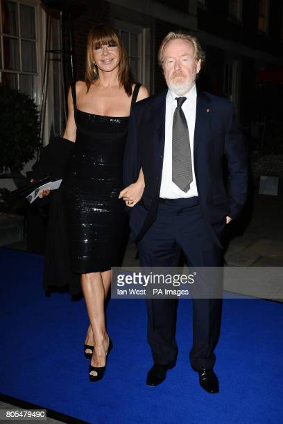 Ridley Scott and Giannina Facio arrive for the London Film Festival Awards at Temple's Inn in London.