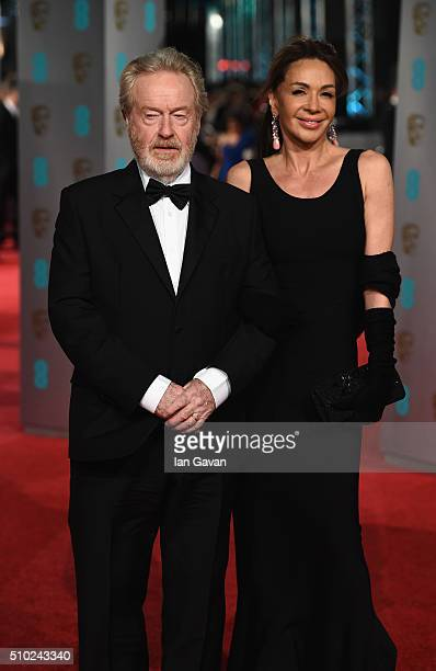 Ridley Scott and Giannina Facio attend the EE British Academy Film Awards at the Royal Opera House on February 14, 2016 in London, England.