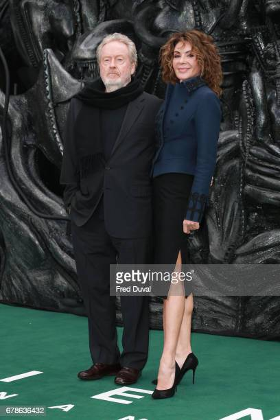 """Ridley Scott and Giannina Facio attend the World Premiere of """"Alien: Covenant"""" at Odeon Leicester Square on May 4, 2017 in London, England."""