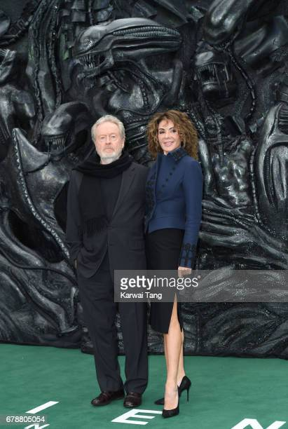"Ridley Scott and Giannina Facio attend the World Premiere of ""Alien: Covenant"" at Odeon Leicester Square on May 4, 2017 in London, England."