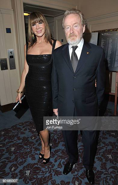 Ridley Scott and Giannina Facio attends the Times BFI 53rd London Film Festival Awards Ceremony on October 28, 2009 in London, England.