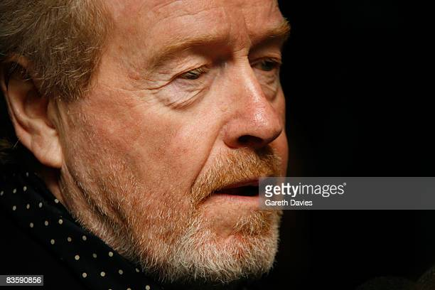 """Ridley Scott arrives at the premiere for """"Body of Lies"""" at the Vue Cinema on November 06, 2008 in London, England."""
