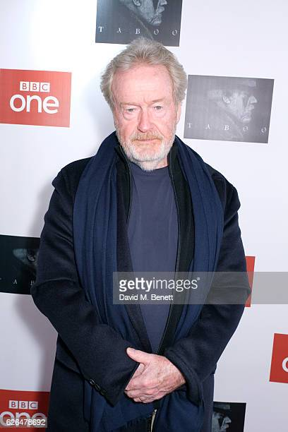 Ridley Scott attends the UK Premiere of new BBC One drama 'Taboo' at Picturehouse Central on November 29 2016 in London England
