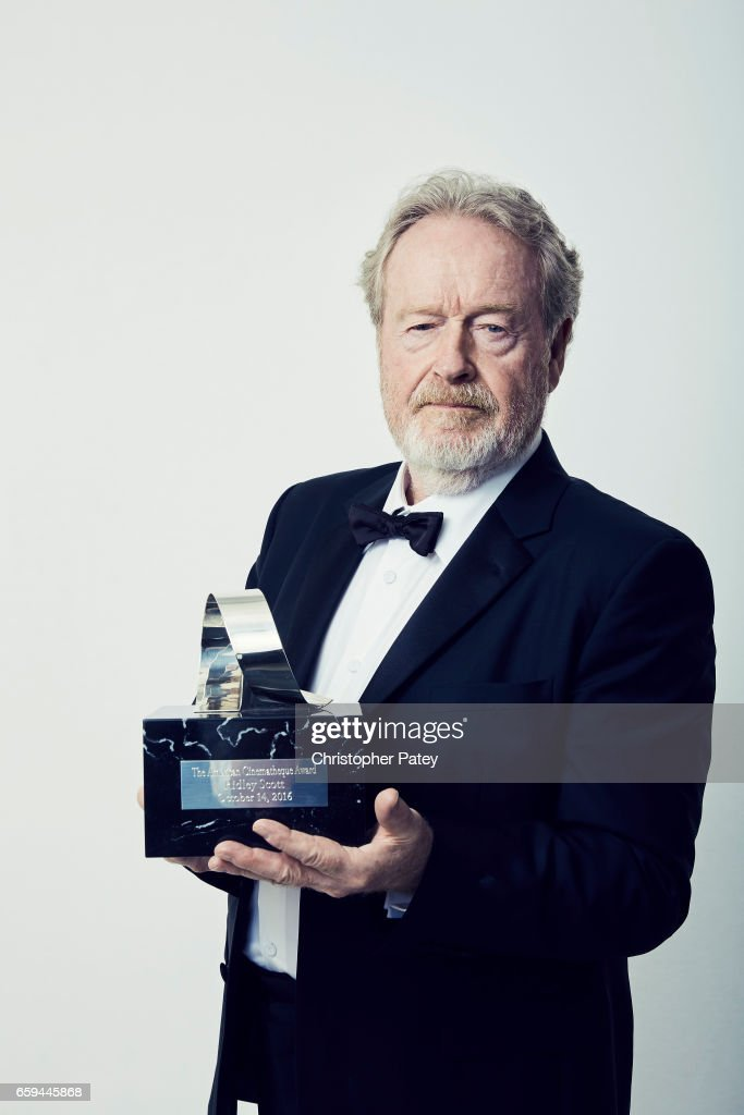 Ridley Scott pose for a portrait at the 2016 American Cinematheque Awards with his award honor on October 14, 2016 in Beverly Hills, California.