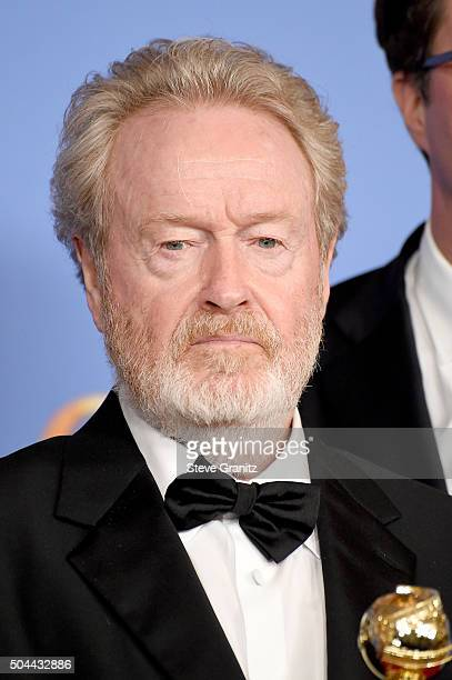 Ridley Scott winner of the award for Best Motion Picture Musical or Comedy for 'The Martian' poses in the press room during the 73rd Annual Golden...