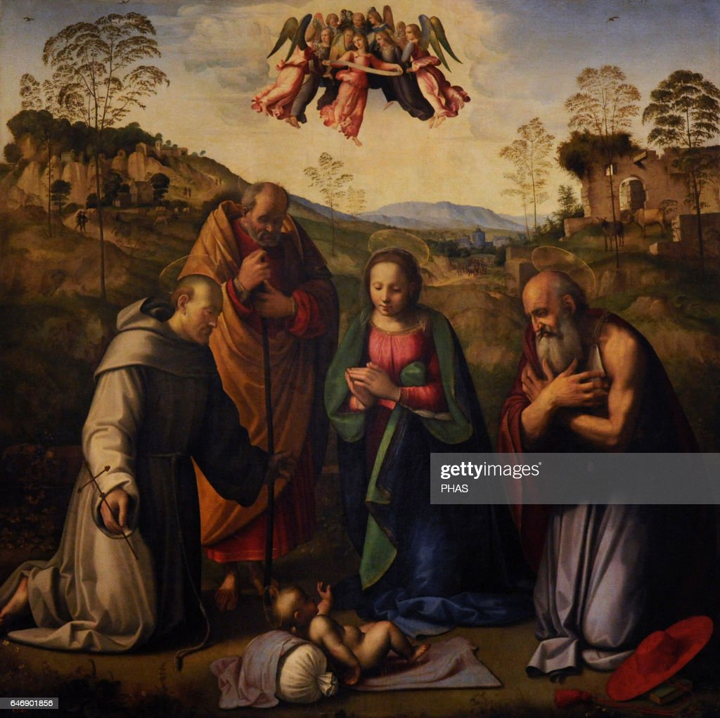The Virgin with Child and Sts Francis and Jerome. : News Photo