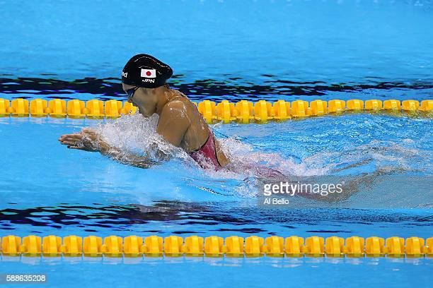 Rie Kaneto of Japan competes in the Women's 200m Breaststroke Final on Day 6 of the Rio 2016 Olympic Games at the Olympic Aquatics Stadium on August...