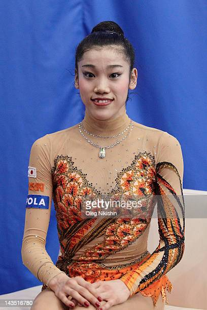 Rie Matsubara of Japanese team during competition of FIG Rhythmic Gymnastics World Cup in Penza on April 28 2012 in Penza Russia