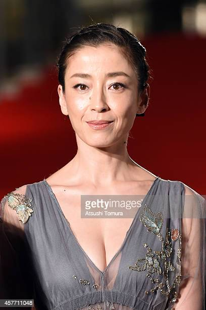 Rie Miyazawa of Japan arrives at the opening ceremony during the 27th Tokyo International Film Festival at Roppongi Hills on October 23 2014 in Tokyo...