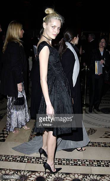 Rie Rasmussen during amfAR Benefit Evening Honoring Richard Gere Lorne Michaels and Anna Wintour Party at Cipriani's 42nd Street in New York NY...