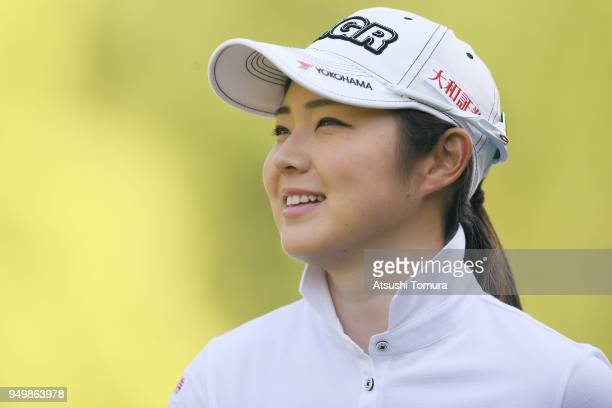 Rie Tsuji of Japan looks on during the final round of the Fuji Sankei Ladies Classic at Kawana Hotel Golf Course Fuji Course on April 22 2018 in Ito...