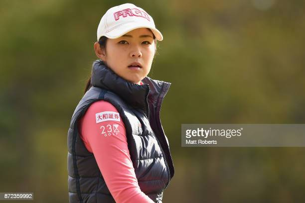 Rie Tsuji of Japan looks on during the first round of the Itoen Ladies Golf Tournament 2017 at the Great Island Club on November 10 2017 in Chonan...