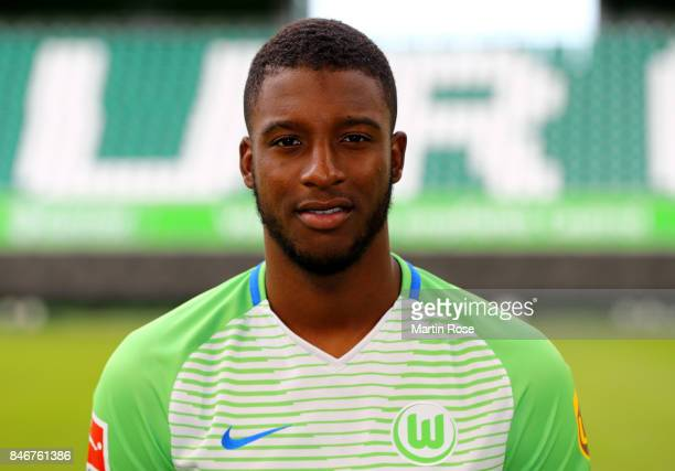 Riechedly Bazoer of VfL Wolfsburg poses during the team presentation at on September 13 2017 in Wolfsburg Germany