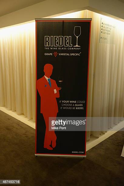 Riedel Crystal on display at Sauced in the City A Mighty Quinn's BBQ Pairing Seminar hosted by Hugh Mangum and Mark Oldman Celebrity Cruises Pairing...