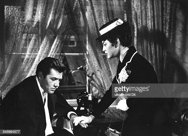 Riedmann Gerhard Actor Austria * Scene from the movie 'Der CzardasKoenig' and Elma Karlowa Directed by Harald Philipp West Germany 1958 Produced by...