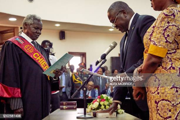 Riek Machar is sworn is as First Vice President of South Sudan on February 22 in Juba South Sudan rebel leader Riek Machar was sworn in as first vice...