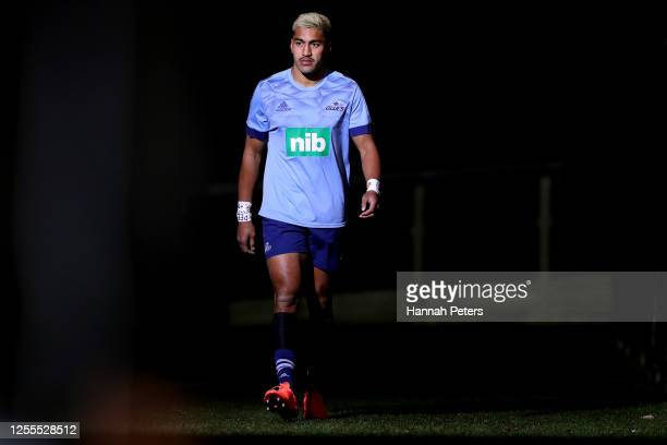 Rieko Ioane of the Blues before the round 5 Super Rugby Aotearoa match between the Crusaders and the Blues at Orangetheory Stadium on July 11, 2020...