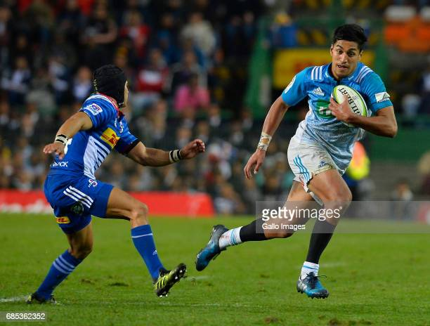 Rieko Ioane of the Blues during the Super Rugby match between DHL Stormers and Blues at DHL Newlands on May 19 2017 in Cape Town South Africa