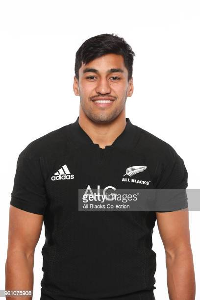 Rieko Ioane poses during a New Zealand All Blacks headshots session on May 21 2018 in Auckland New Zealand