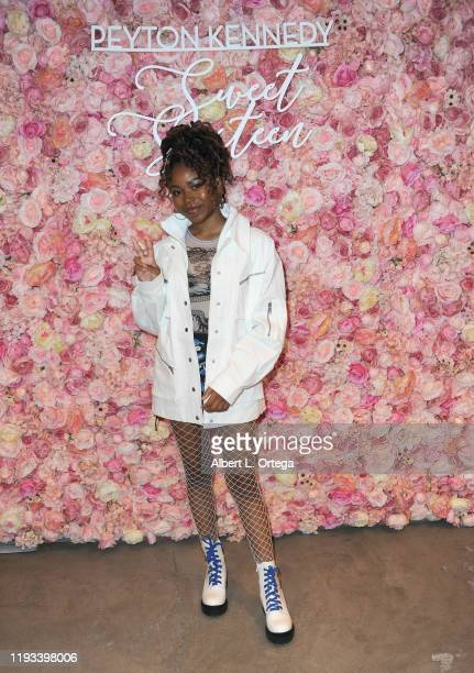 Riele Downs arrives for Peyton Kennedy's Sweet 16 Charity Event held at Peer Space on January 11, 2020 in Hollywood, California.