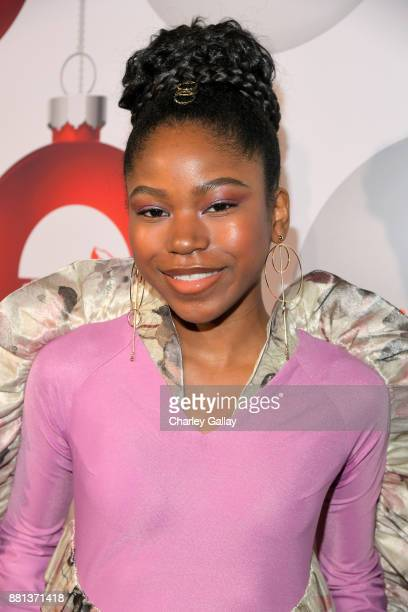Riele Downs at the premiere of The Nickelodeon Movie Tiny Christmas on November 28 2017 in Hollywood California