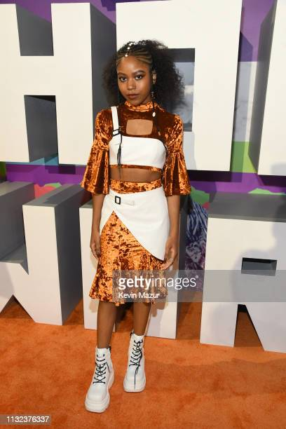Riele Downs attends Nickelodeon's 2019 Kids' Choice Awards at Galen Center on March 23, 2019 in Los Angeles, California.