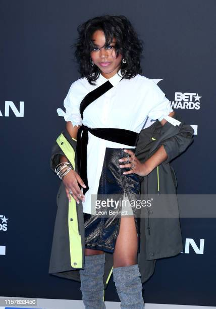Riele Downs attends the 2019 BET Awards on June 23, 2019 in Los Angeles, California.