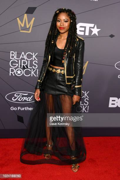 Riele Downs attends the Black Girls Rock 2018 Red Carpet at NJPAC on August 26 2018 in Newark New Jersey