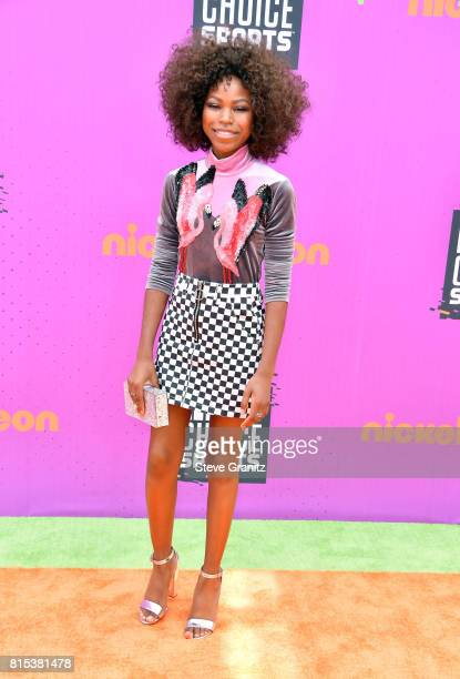 Riele Downs attends the Nickelodeon Kids' Choice Sports Awards 2017 at Pauley Pavilion on July 13 2017 in Los Angeles California