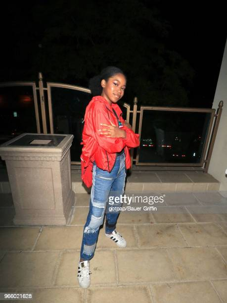 Riele Downs is seen on June 01 2018 in Los Angeles California