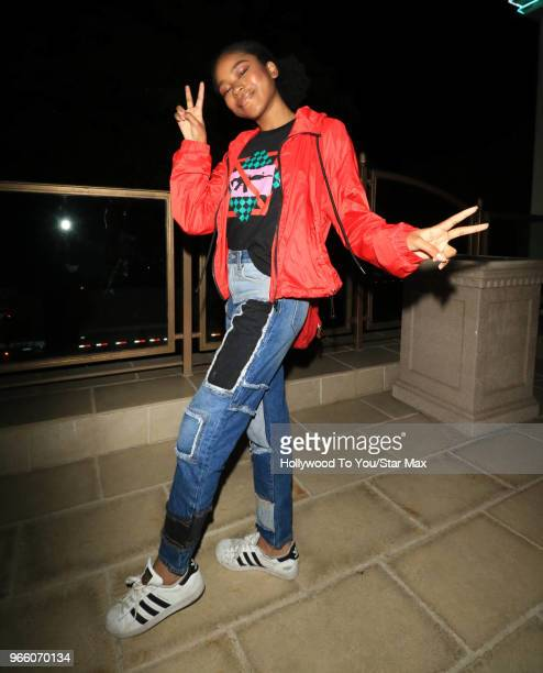 Riele Downs is seen on June 1 2018 in Los Angeles California