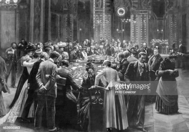 'Rien ne va plus' the gambling rooms at Monte Carlo Monaco 1890 A print from The Graphic 8 November 1890