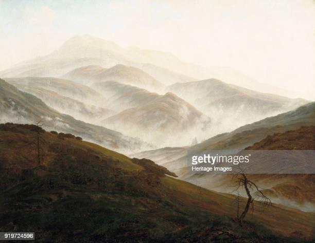 Riesengebirge Landscape with Rising Fog ca 1820 Found in the Collection of Neue Pinakothek Munich