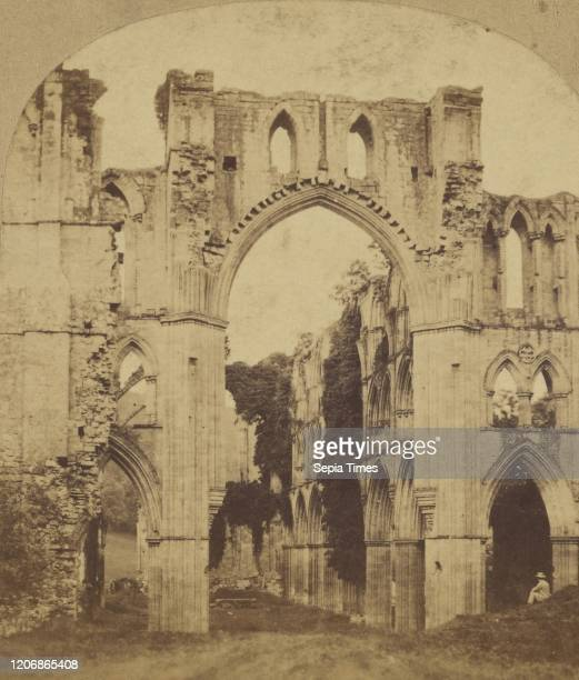 Rievaulx Abbey From the North WR Sedgfield about 1860 Albumen silver print