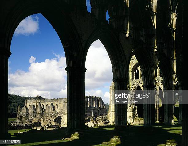 Rievaulx Abbey, North Yorkshire, 1987. From humble beginnings in 1132, Rievaulx Abbey became one of the foremost Cistercian monasteries in medieval...
