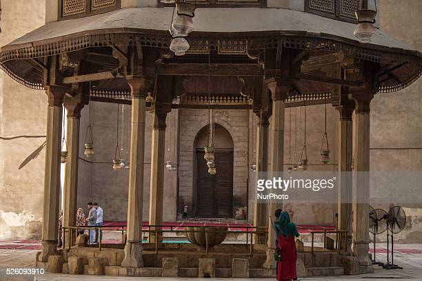 Rifai mosque in Cairo Egypt on 3rd October 2015 The MosqueMadrassa of Sultan Hassan is a massive Mamluk era mosque and madrassa located near the...