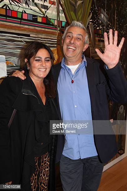 Rifat Ozbek attends the debut screening of a short film collaboration between Bella Freud and director Martina Amati at Max Wigram Gallery on...