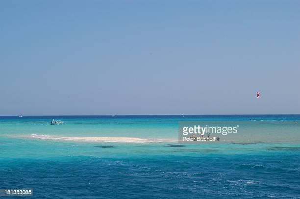 Riff bei Hurghada Ägypten Afrika Rotes Meer Strand Boot ProdNr 523/2006 Reise