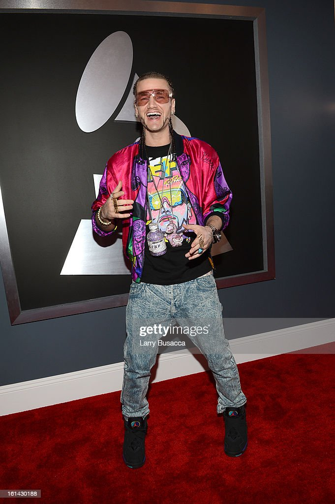 7c21f9e7a9dcb Riff Raff aka Jody Christian attends the 55th Annual GRAMMY Awards ...