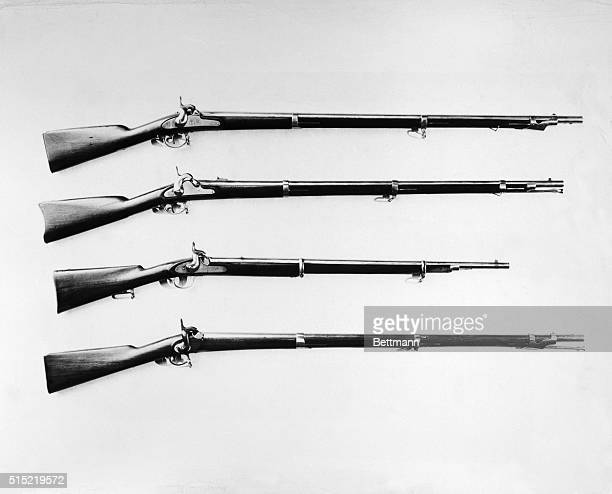 Rifle listed from left to right : Palmetteo Musket, this weapon was made for the State of South Carolina by the Palmetto Armory of Columbus in 1853,...