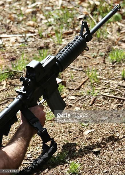 Rifle on the shooting range