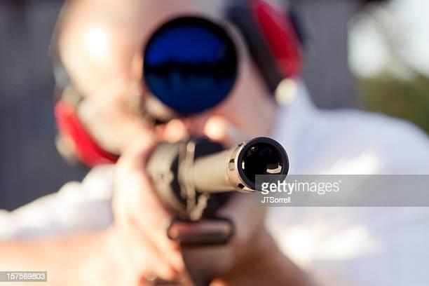escopo rifle - sportsperson - fotografias e filmes do acervo