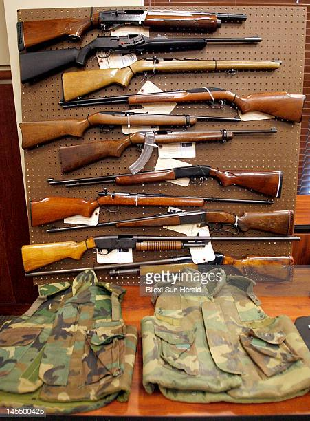 Rifles of all makes and sizes were part of guns confiscated in gun trafficking arrest in South Mississippi A press conference was held at Gulfport...