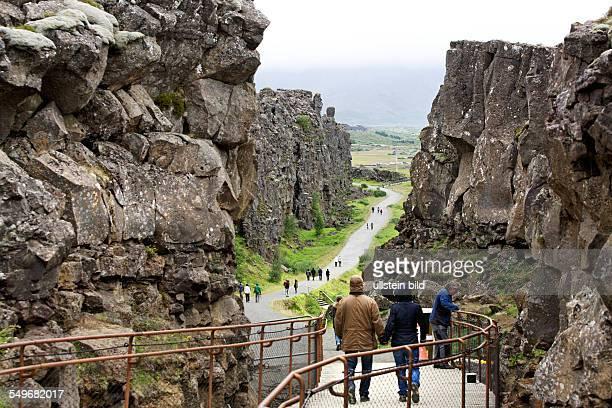 Rift valley Pingvellir National Park Iceland